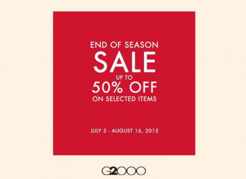 G2000 End of Season Sale July - August 2015