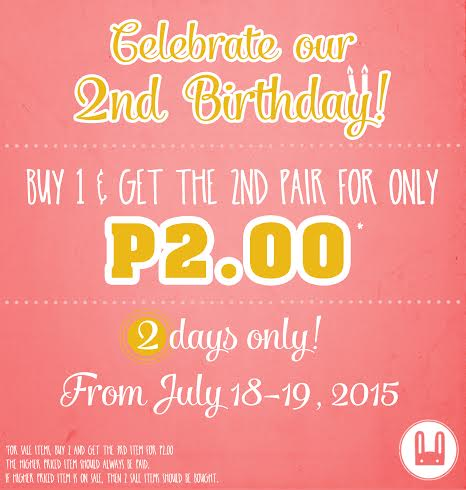 Le Bunny Bleu 2nd Anniversary Sale July 2015