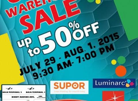 Orient Warehouse Sale (Rubbermaid, Supor, Luminarc) July - August 2015