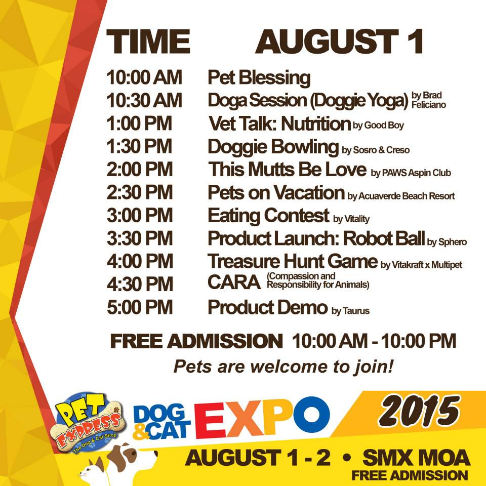Pet Express Dog & Cat Expo August 2015 - Day 1 Activities