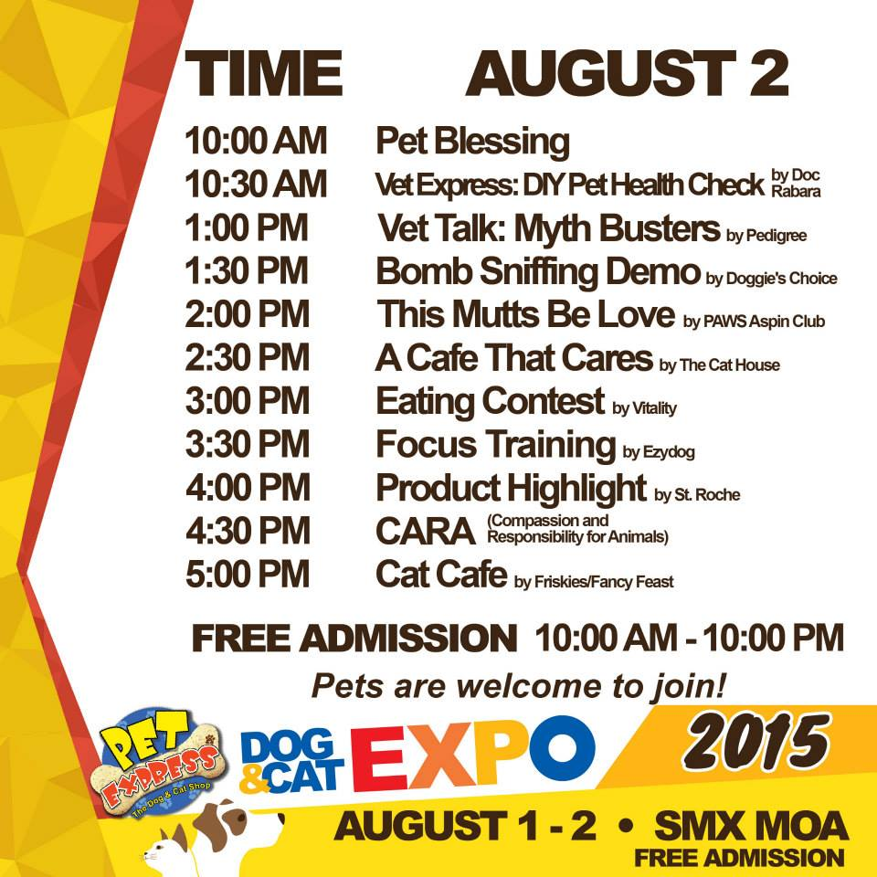 Pet Express Dog & Cat Expo August 2015 - Day 2 Activities