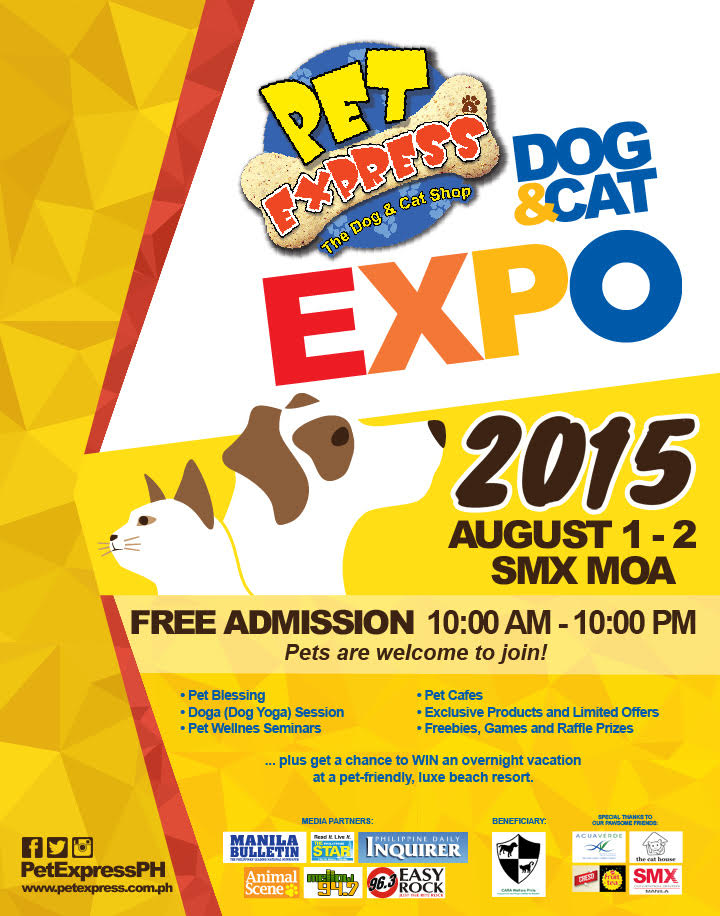 Pet Express Dog & Cat Expo @ SMX Convention Center August 2015