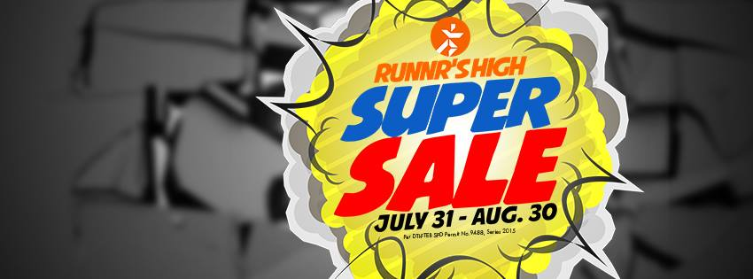 Runnr High Super Sale July - August 2015