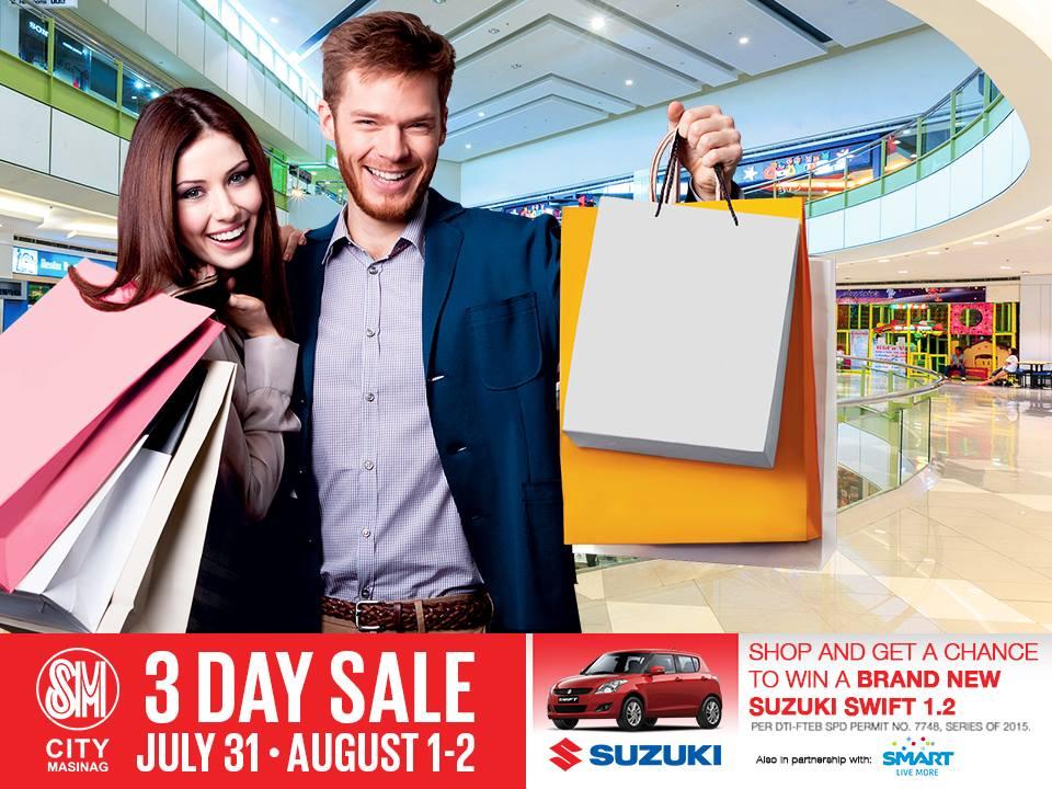 SM City Masinag 3-Day Sale July - August 2015