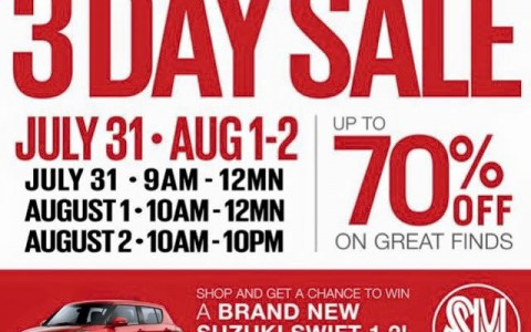 SM City Sta. Mesa 3-Day Sale July - August 2015