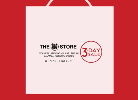 The SM Store 3-Day Sale July - August 2015