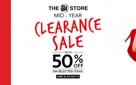 The SM Store Mid-Year Clearance Sale June - July 2015