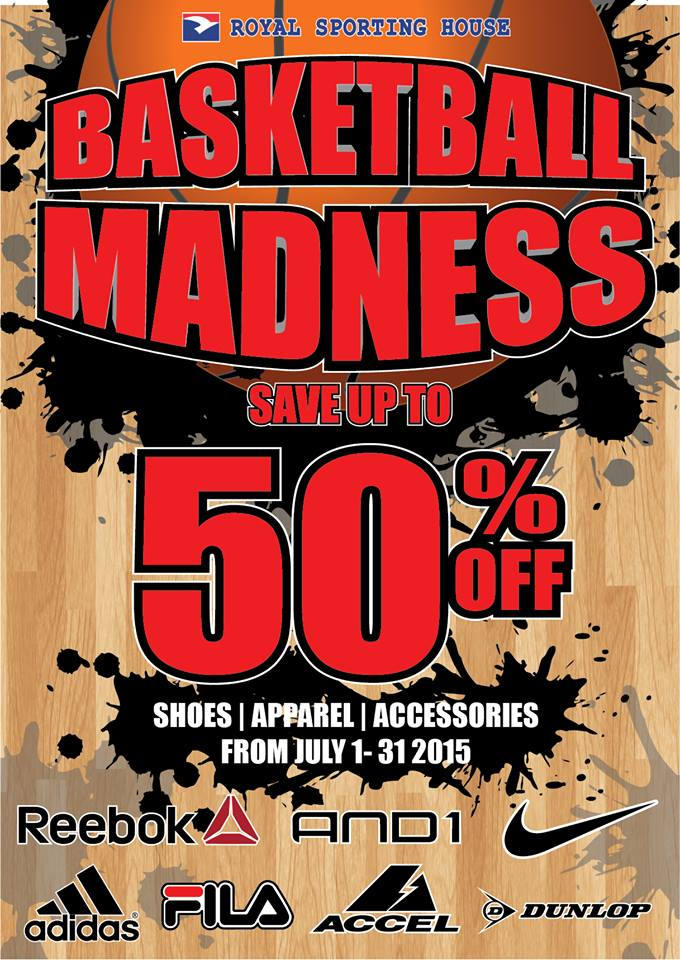 royal sporting house basketball madness sale july 2015 poster