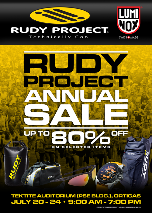rudy project annual sale at tektite july 2015 poster