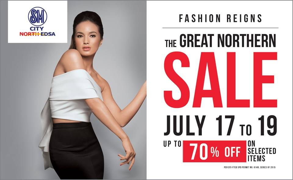 sm north edsa 3-day sale july 2015 poster