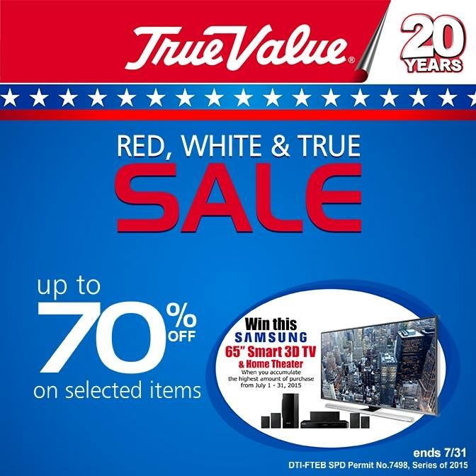 true value red white & blue sale july 2015 poster