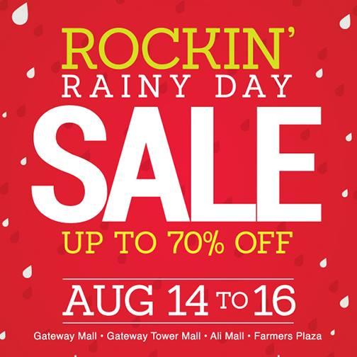 Araneta Center Rockin Rainy Day Sale August 2015