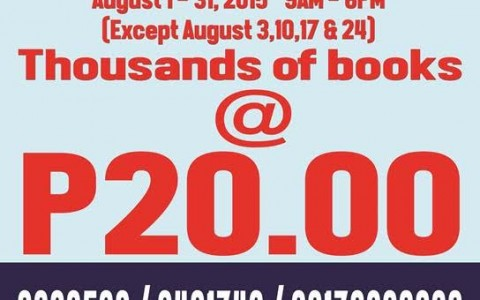 Books For Less Warehouse Sale August 2015