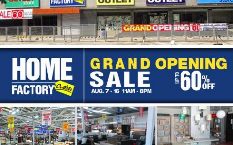 Home Factory Outlets Grand Opening Sale August 2015