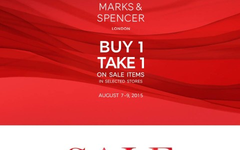 Marks & Spencer Buy 1 Take 1 Promo August 2015