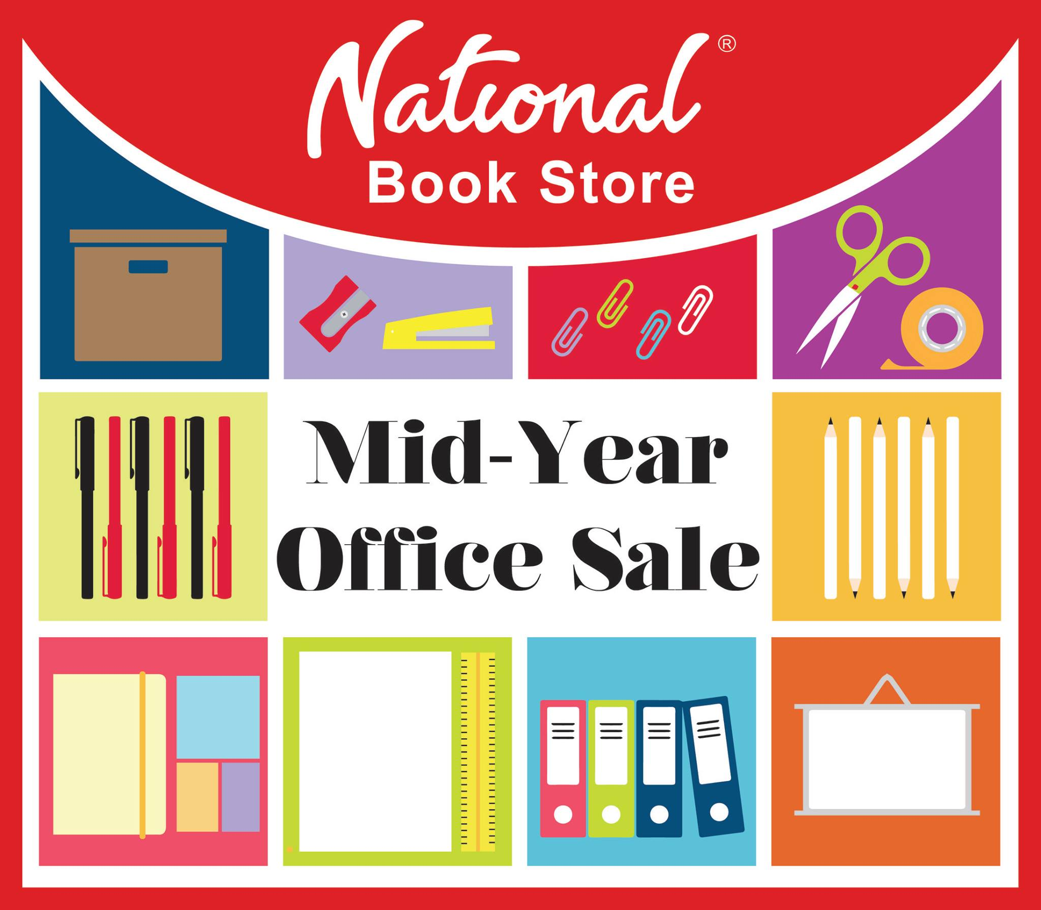 National Book Store Mid Year Office Sale August 2015