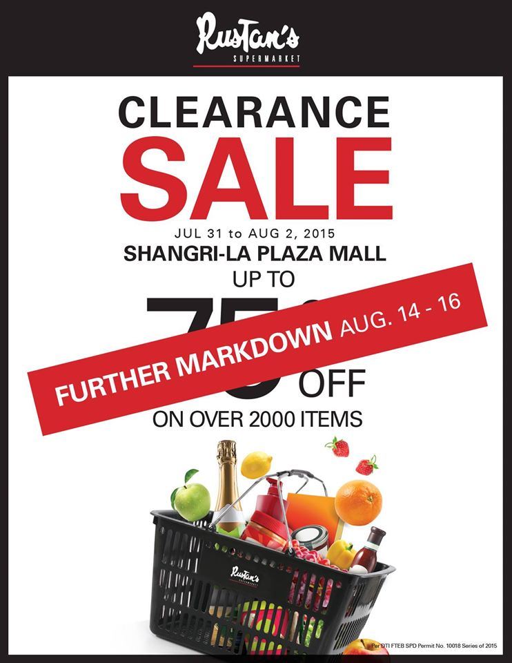 Rustan's Supermarket Clearance Sale - Further Markdowns August 2015