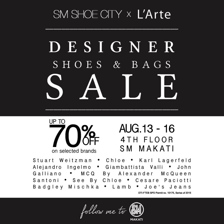 SM Shoe City Designer Shoes & Bags Sale @ SM Makati August 2015