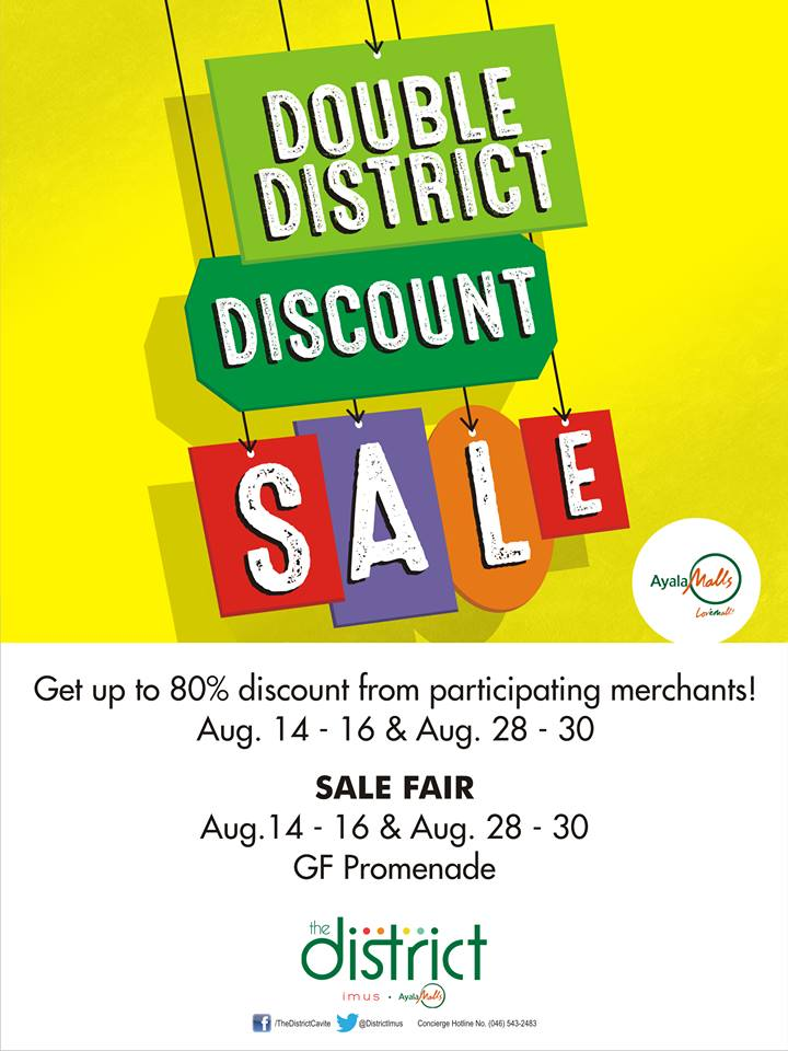 The District Cavite Double District Discount Sale August 2015