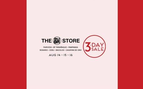 The SM Store 3-Day Sale August 2015