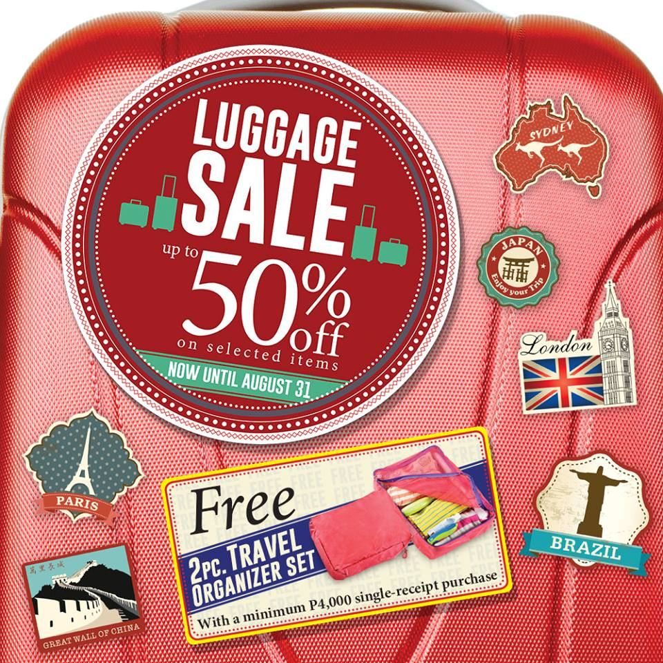 The SM Store Luggage Sale August 2015