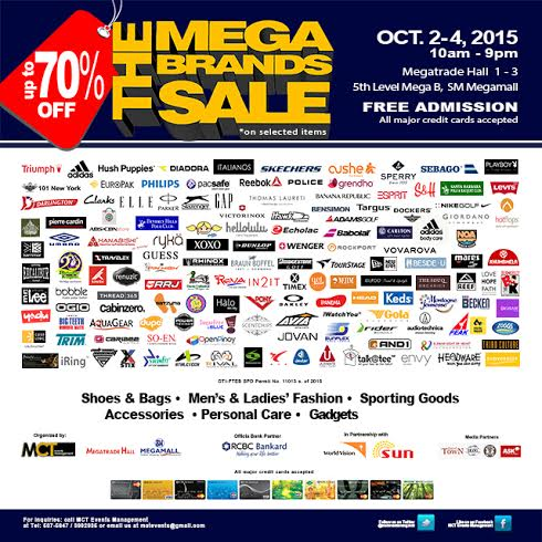 12th MegaBrands Sale @ SM Megatrade Hall October 2015