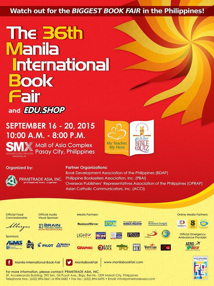 36th Manila International Book Fair @ SMX Convention Center September 2015