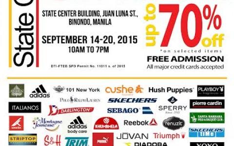 9th Binondo Warehouse Sale @ State Center Building September 2015