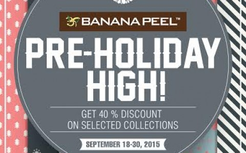 Banana Peel Pre-Holiday Sale September 2015