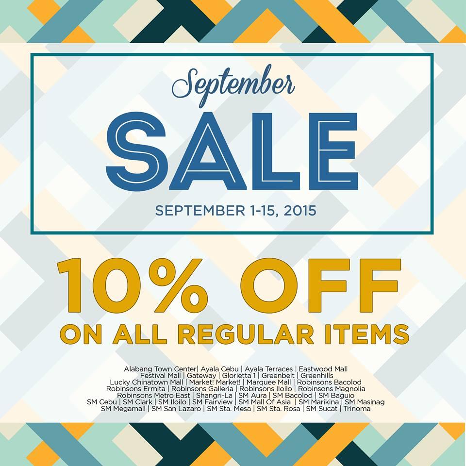 Bayo September Sale September 2015
