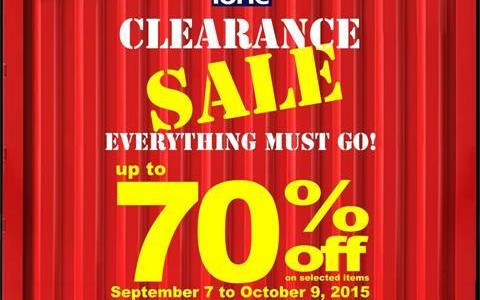 Dimensione Clearance Sale @ The Bench Tower BGC September - October 2015