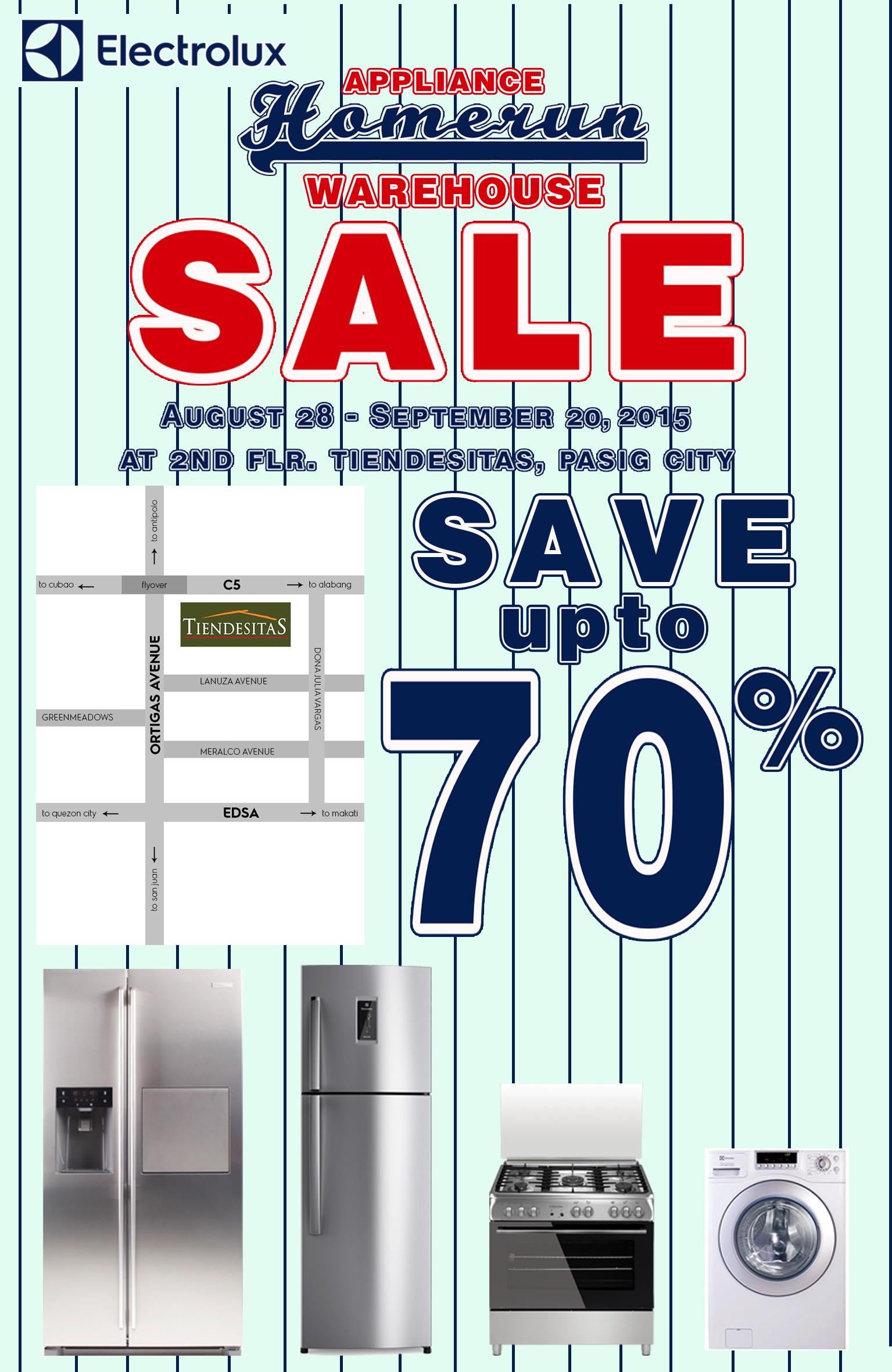 Electrolux Appliance Homerun Warehouse Sale @ Tiendesitas August - September 2015