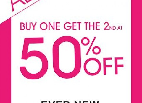Ever New Buy 1 Get 2nd at 50% Off on Tops Promo September 2015
