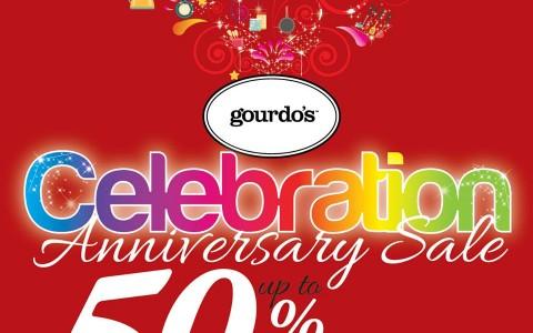 Gourdo's Anniversary Sale September - November 2015