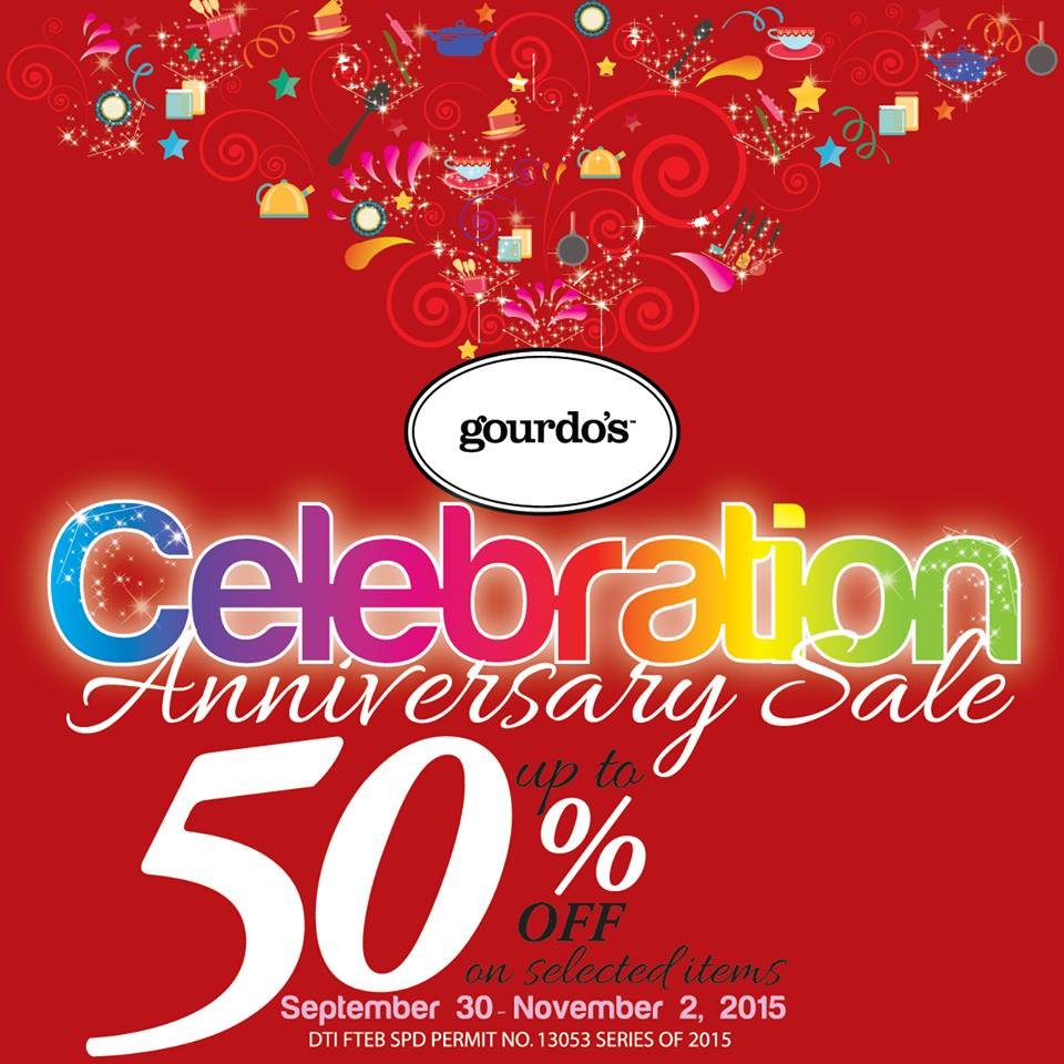 Gourdo's Anniversary Sale September - November 2015