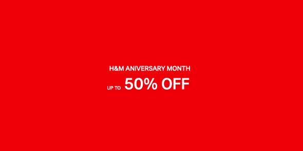 H&M Anniversary Sale September - October 2015