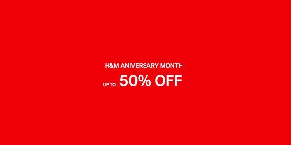 H&M Anniversary Sale September - October 2015