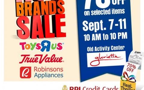 Hot Brands Sale (Toys R Us, True Value, Robinsons Appliance) @ Glorietta Activity Center September 2015