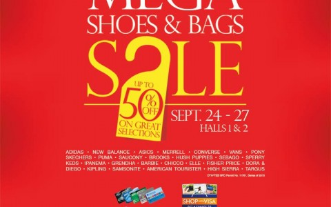 Mega Shoes & Bags Sale @ SM Megatrade Hall September 2015