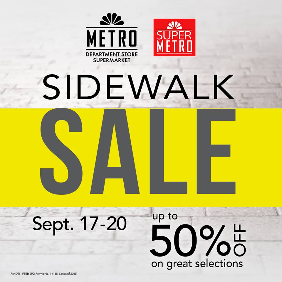 Metro Department Store & Super Metro Sidewalk Sale September 2015