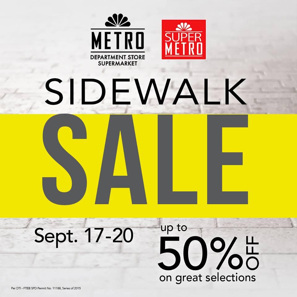 Metro Department Store & Super Metro Sidewalk Sale September 2015
