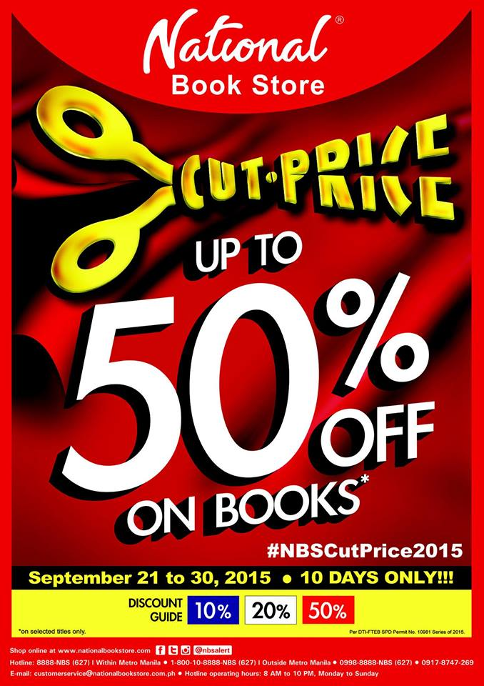 National Book Stores Cut Price Sale September 21 30 2015