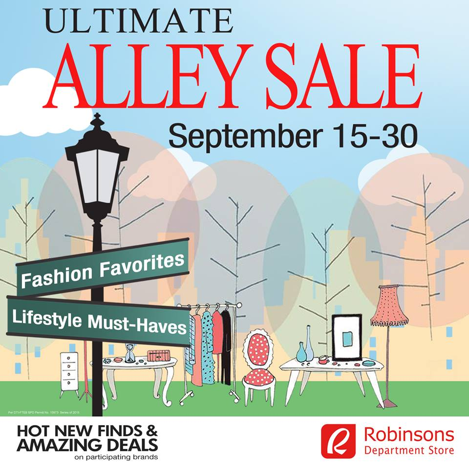 Robinsons Department Store Ultimate Alley Sale September 2015