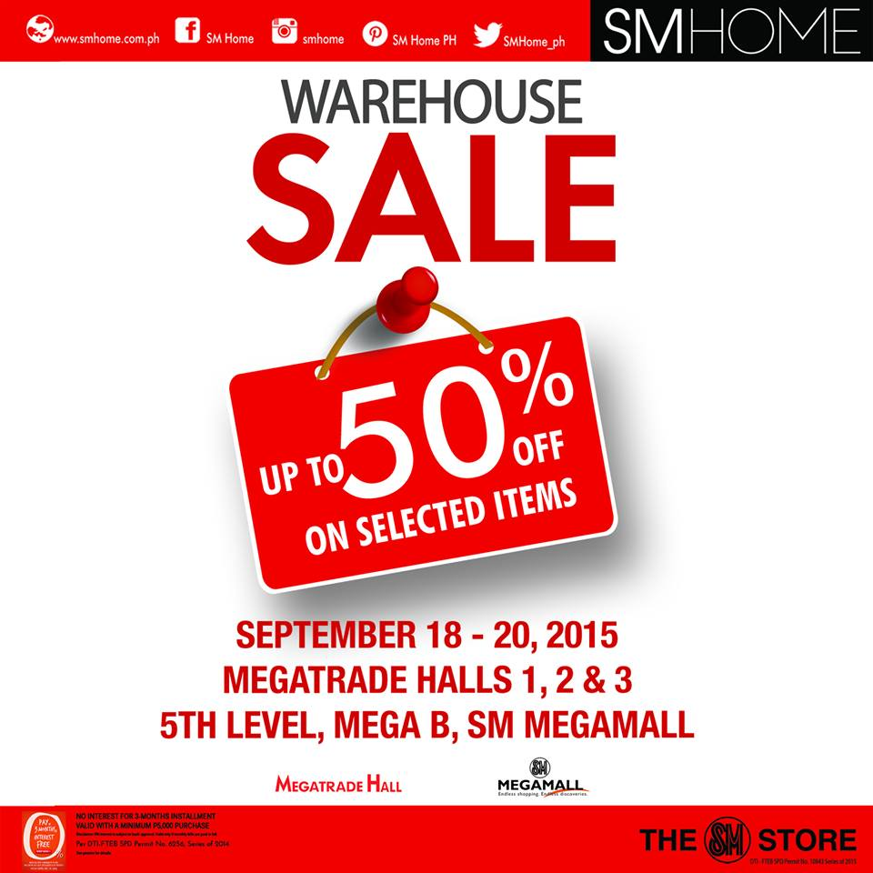 5d7b074ce11 SM Home Warehouse Sale   SM Megatrade Hall September 2015