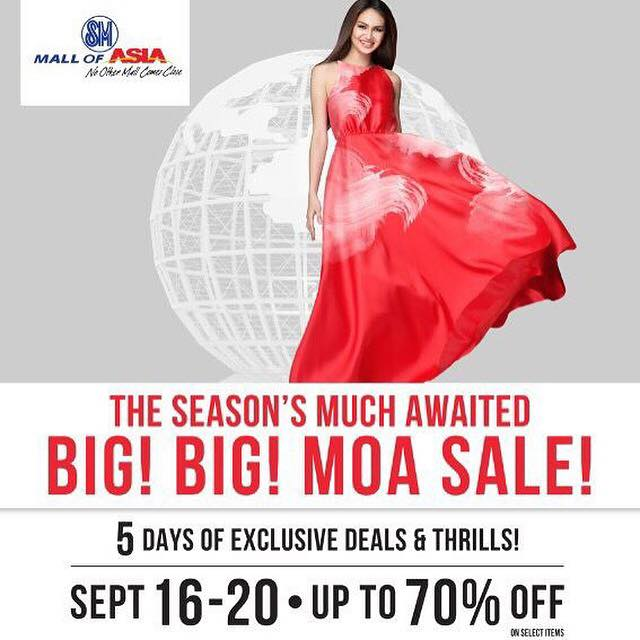 SM Mall of Asia Big Big Sale September 2015