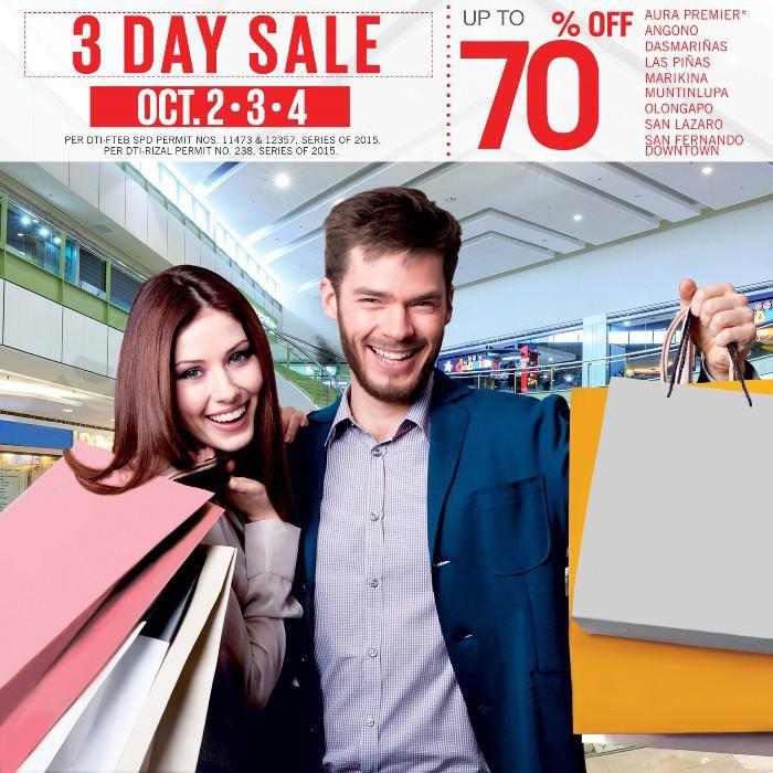 SM Supermalls 3-Day Sale October 2015