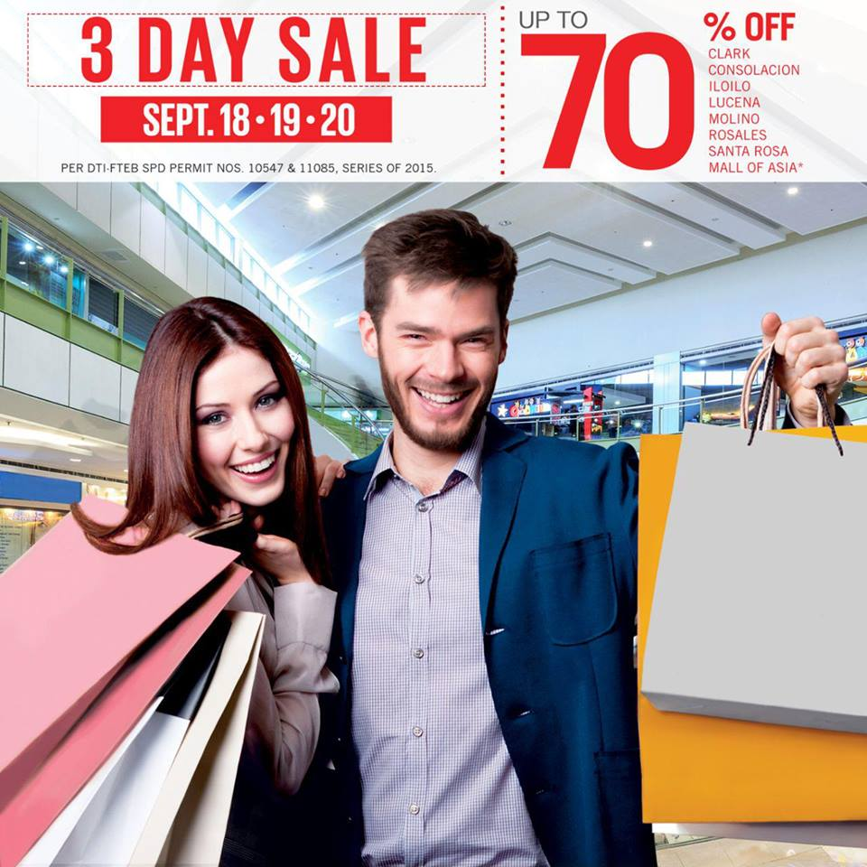 SM Supermalls 3-Day Sale September 2015