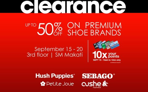 Shoe Clearance Sale @ The SM Store Makati September 2015