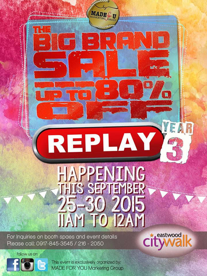 The Big Brand Sale @ Eastwood City Walk Plaza September 2015