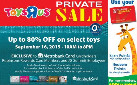 Toys R Us Private Sale @ Robinsons Galleria September 2015